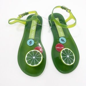 Katy Perry Lime Green Jelly Sandal Size 6